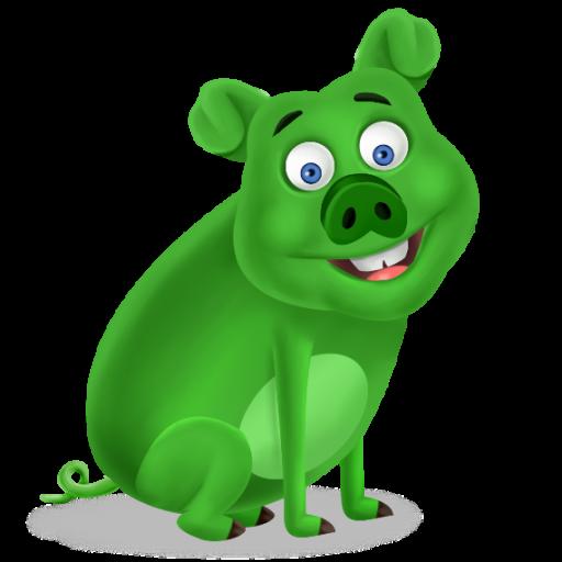 Green Pigs Mascot